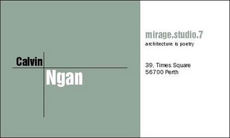 Architectural Business Cards architects