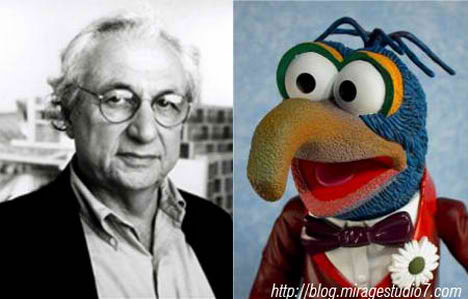 Frank Gehry Gonzo the Great Famous Architects Separated at Birth