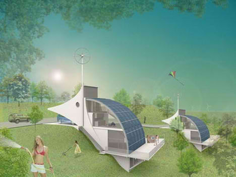 Sustainable Architecture On Sustainable Hydrogen Powered Danish Dream City  Where The Houses Draw