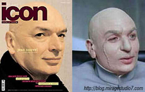 Jean Nouvel Dr.Evil Famous Architects Separated at Birth