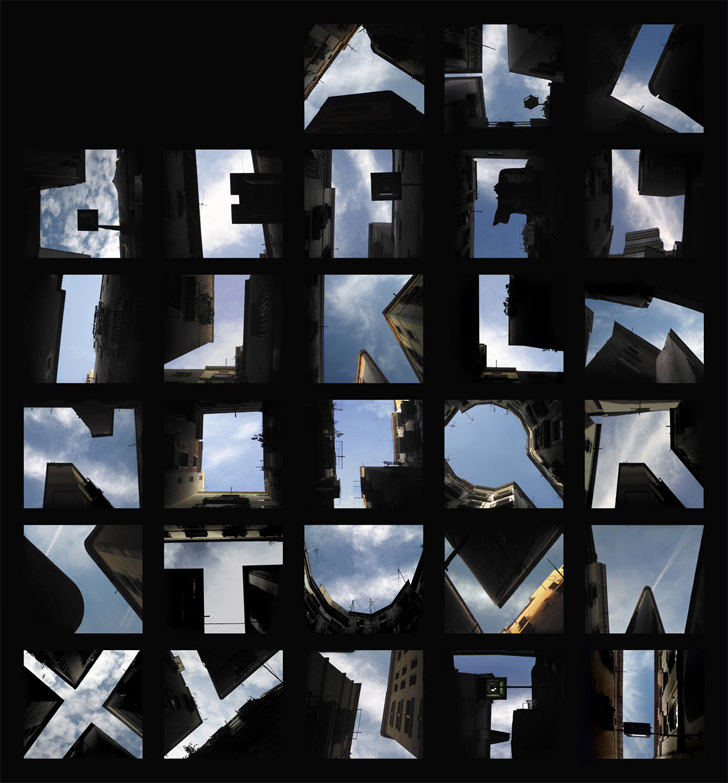 Type the Sky fonts by Lisa Rienermann