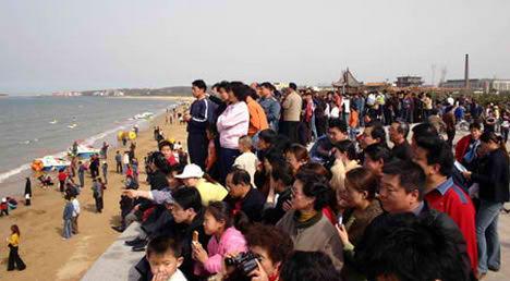Mirage in Penglai, China