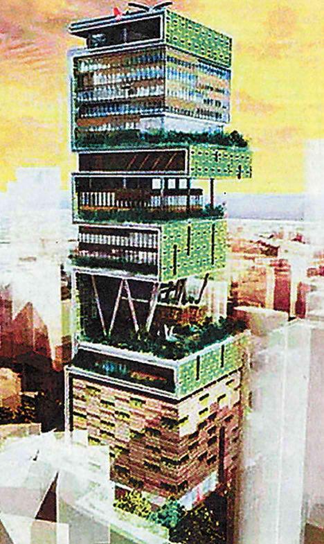 60 Storey Tower House for Mukesh Ambani