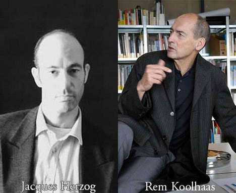 Rem Koolhaas and Jacques Herzog Separated at Birth Famous Architects Separated at Birth