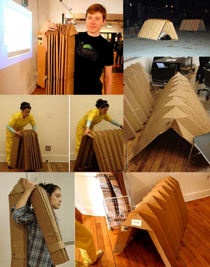 Shell House - Portable Cardboard Shelter