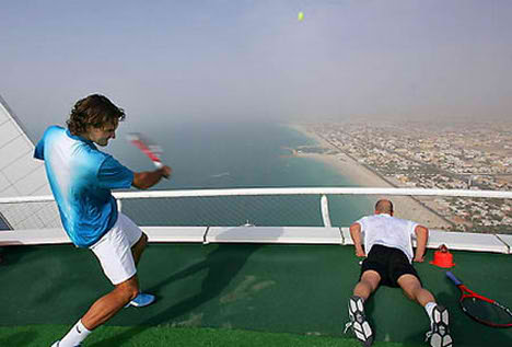 burj al arab hotel Tennis Court the Jetson Style