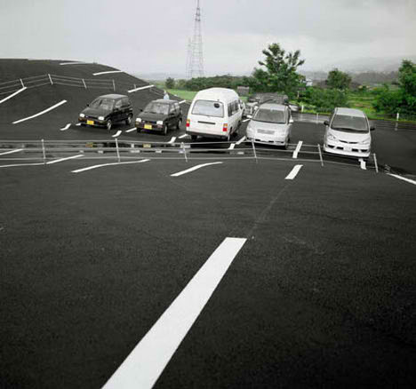 tokamashi landscape parking japan blend nature minimalist