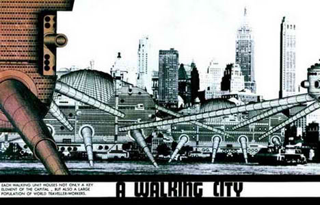 walking city future futuristic