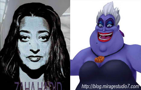 Zaha Hadid Ursula Little Mermaid Famous Architects Separated at Birth