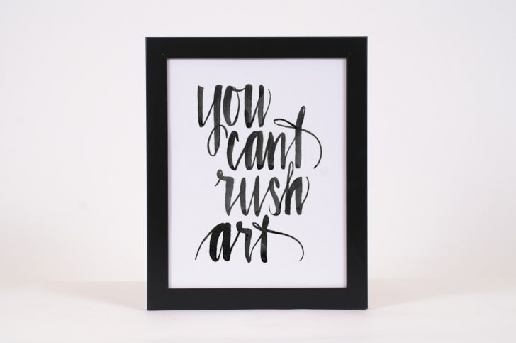 You Can't Rush Art