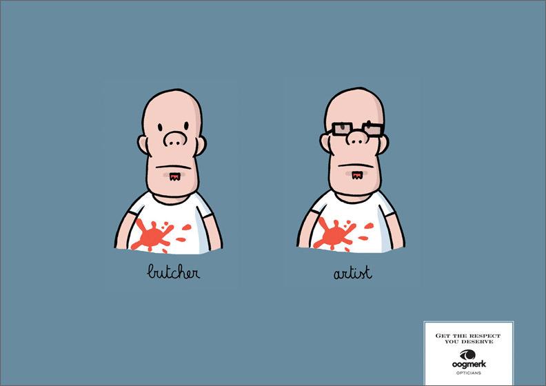 La magia de las gafas.