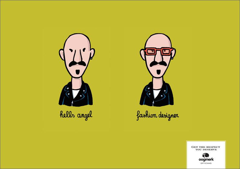 oogmerk opticians advertisement architect spectacles