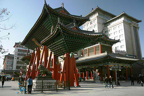 chinese architecture contemporary city xian