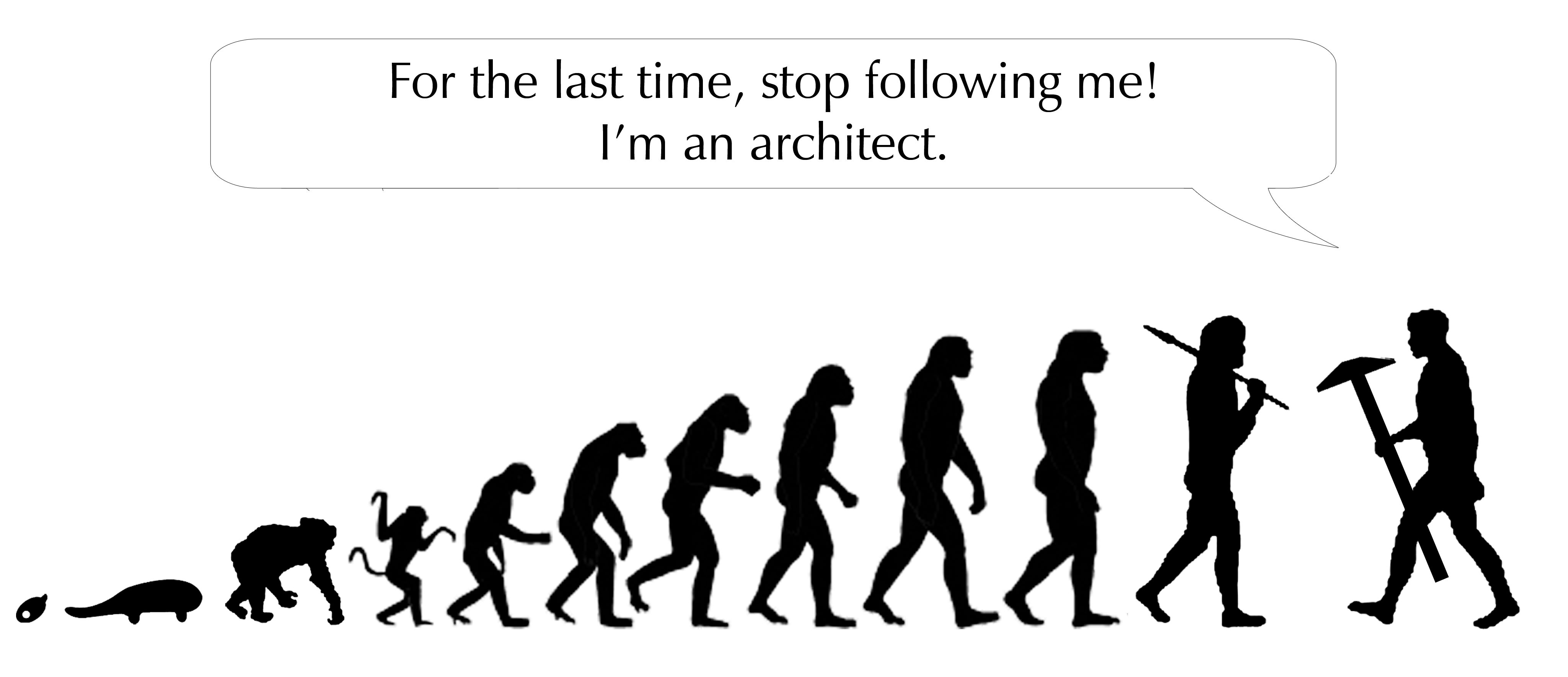 Stop Following Me! I'm An Architect.