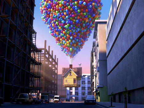 pixar up house model. disney pixar up movie