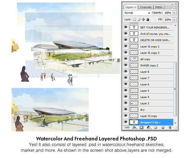 3D Architectural Renderings Illustration - FREE Downloads