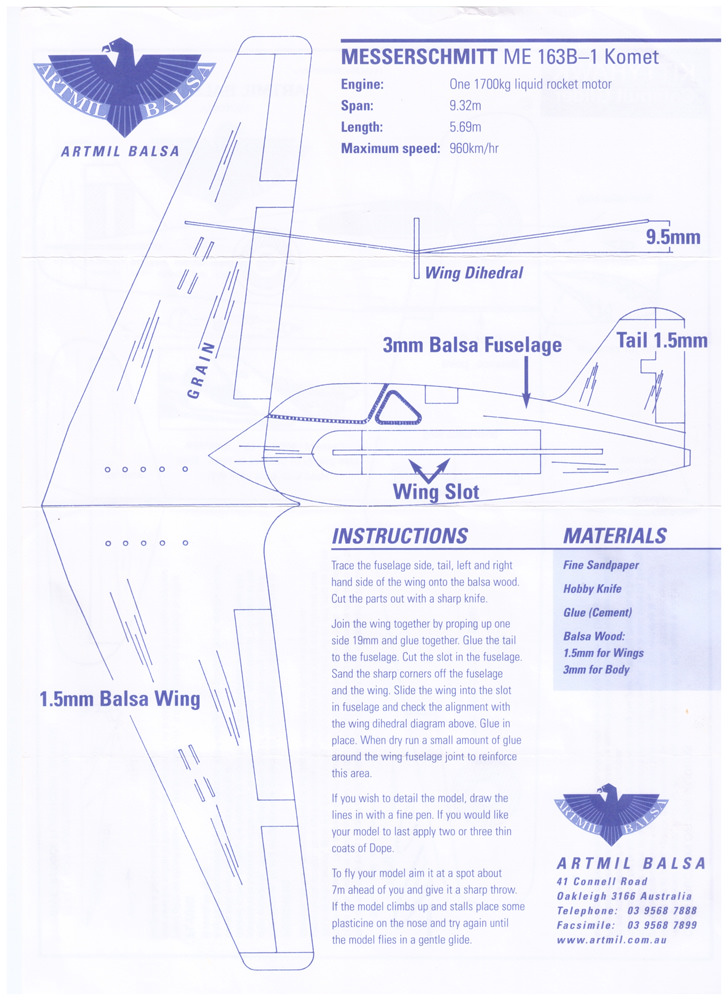 DIY Balsa Airplanes