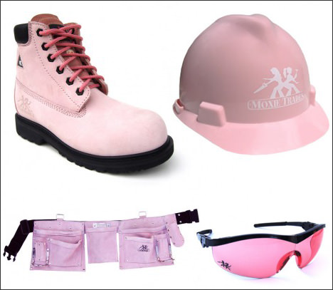 Pink Boots, Safety Hard Hat, Sunglasses And More For Architects