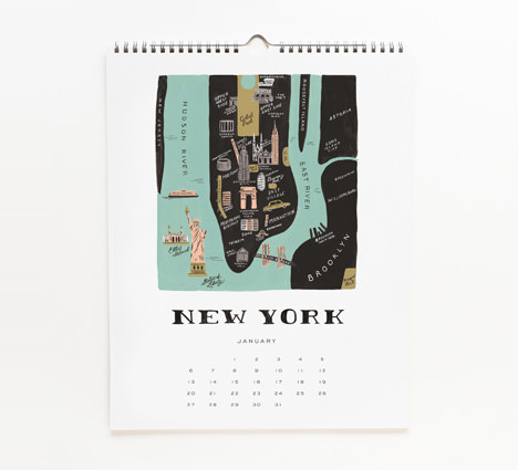 2013 Architecture and Cities Calendar by Rifle Paper Co.