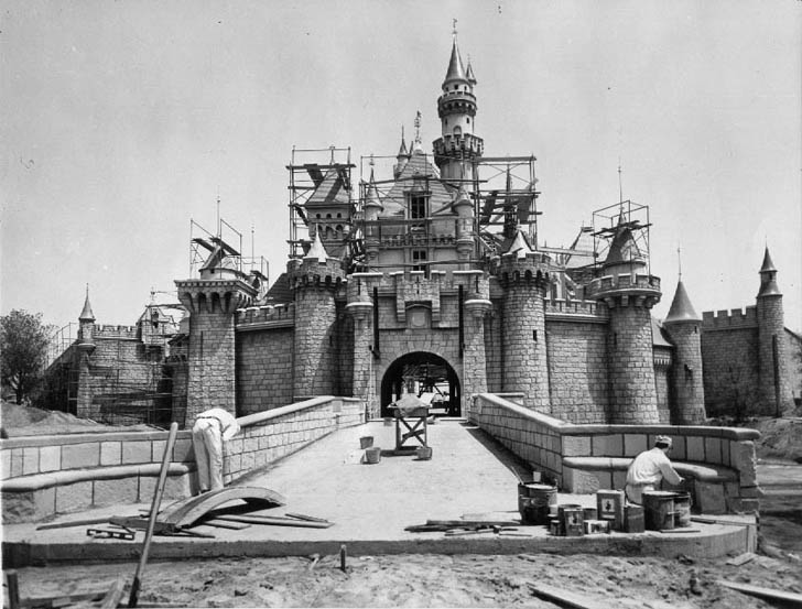 disneyland under construction