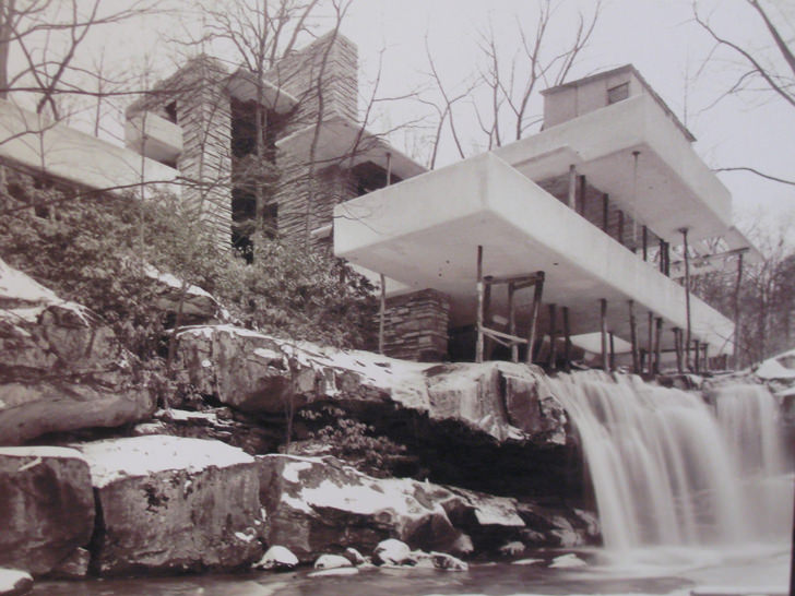 falling water under construction