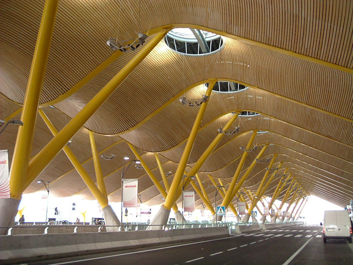 Terminal T4 of the Madrid Barajas Airport in Madrid