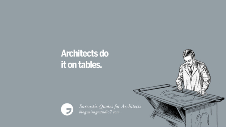 Architects do it on tables.