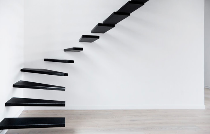 flat cantilevered stairs magic architect