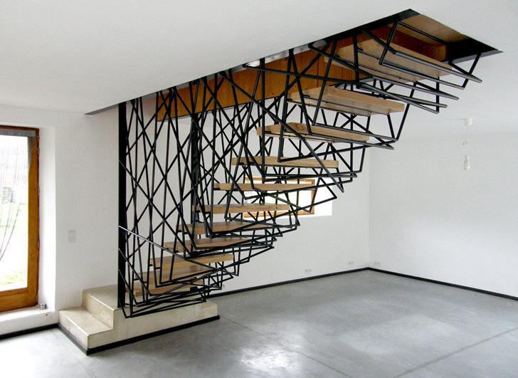 sculptured hand rails