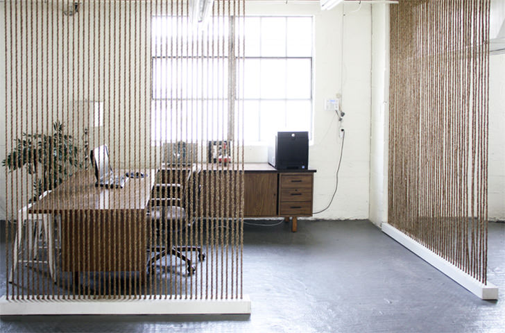 Brick House Rope Wall Office Screen Partition Ideas