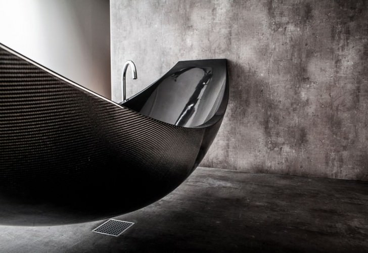 Hammock Shaped Bathtub by SplinterWorks