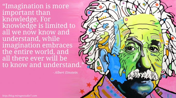 Albert Einstein Imagination is more important than knowledge. For knowledge is limited to all we now know and understand, while imagination embraces the entire world, and all there ever will be to know and understand.