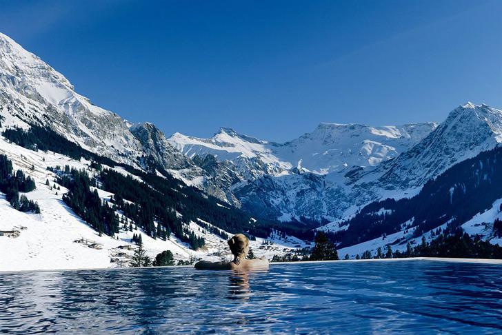 The Cambrian Hotel Adelboden negative edge zero edge infinity pool disappearing edge vanishing edge pool