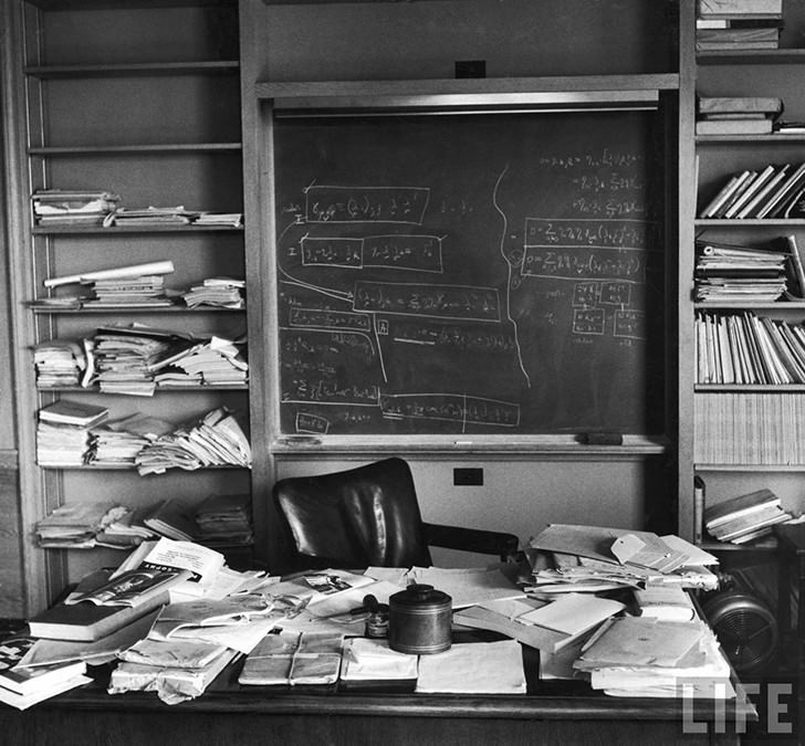albert einstein office table Work Spaces Of Creative And Successful People