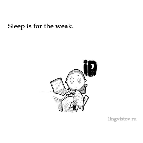 Sleep is for the weak. Funny Doodles on Coffee Sleeping Working Life instagram pinterest twitter facebook architecture architect