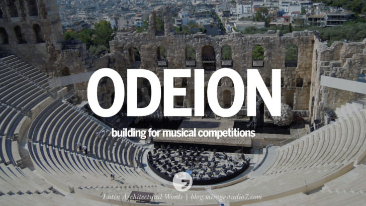 odeion building for musical competitions Beautiful Latin and Ancient Greek Architecture Words instagram facebook twitter pinterest