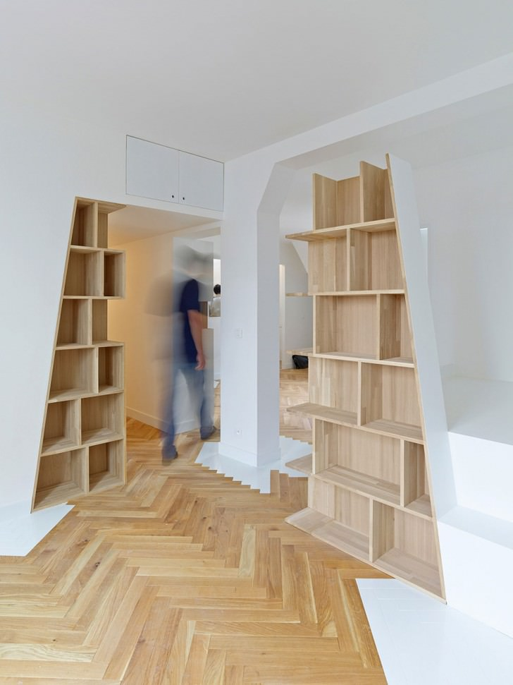bookshelf book rack architecture