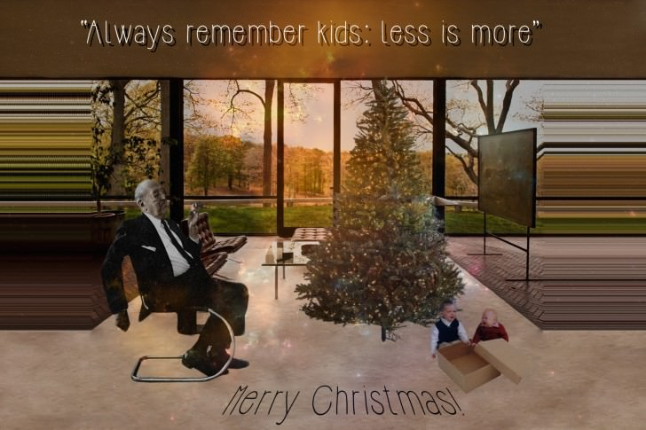 Creative Christmas Cards Ideas for Architects