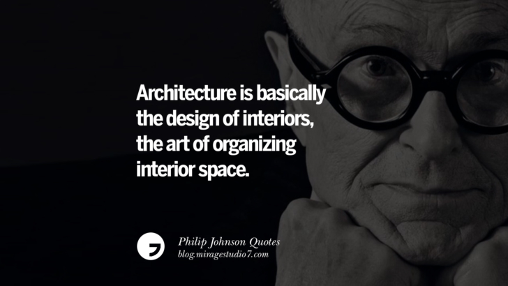 Architecture is basically the design of interiors, the art of organizing interior space. Philip Johnson Quotes About Architecture, Style, Design, And Art
